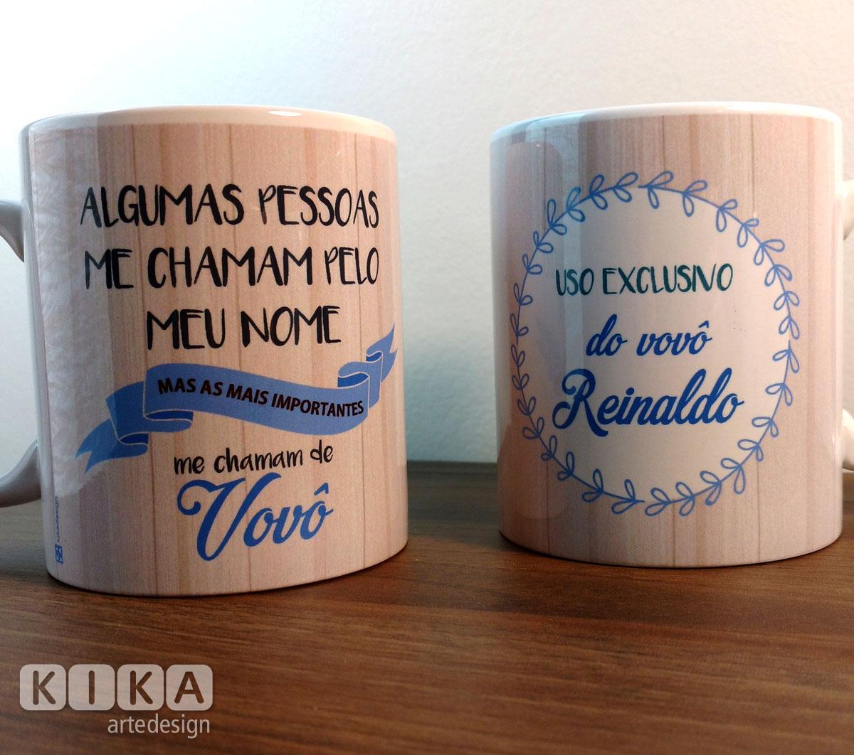 068a06b47 Caneca Cerâmica Vovô - Kika Arte e Design
